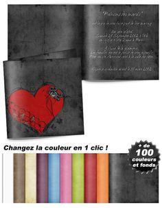 Faire-part mariage – Coeur rouge sur fond noir Magnolia, Paisley, Patrice, Fitness, Red Hearts, Black Backgrounds, Hairstyle, Magnolias