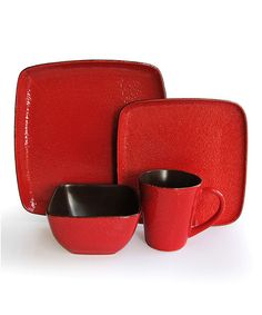 Take a look at this Caliente Red 16-Piece Dinnerware Set on zulily today!  sc 1 st  Pinterest & Crimson Flare Red Dinnerware Set (16-piece) | Overstock.com Shopping ...