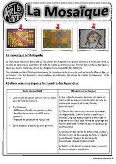 Cliquez pour voir la fiche Art History Memes, History Projects, Art Montessori, Ecole Art, Learning Process, Home Schooling, French Art, Teaching Art, Mosaic Art