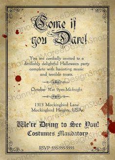 160 best halloween invitations images on pinterest halloween vintage style halloween party invitation stopboris Choice Image