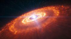 Esta es una ilustración de artista de una estrella joven rodeada por un disco protoplanetario en el que se están formando planetas (no mostrados a escala). Crédito: ESO / L. Calçada. Un nuevo modelo de creación de sistemas planetarios jóvenes aporta una solución fresca a un misterio que ha preocupado a los astrónomos...