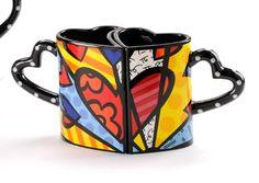 romantic cups - Romero Britto´s