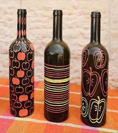 Des bouteilles décoratives