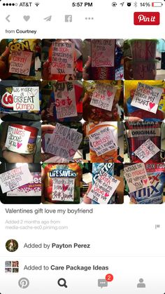 Cute little just because gifts diy pinterest gift for Gifts for your boyfriend just because