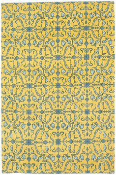 Sweet Pea - Canary, hand-knotted pure wool carpet available at www.tigerrug.net