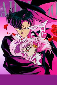 One of my favourite images of Tuxedo Mask and Sailor Mini Moon                                                                                                                                                                                 More
