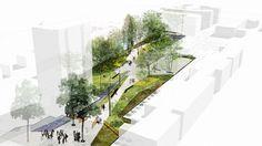 landarchs.com - Ansières Residential Park Reinforces a Social Bond Through Landscape Architecture - Landscape Architects Network