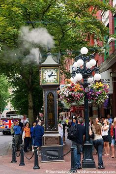 Steam Clock in Gastown . Vancouver, Canada