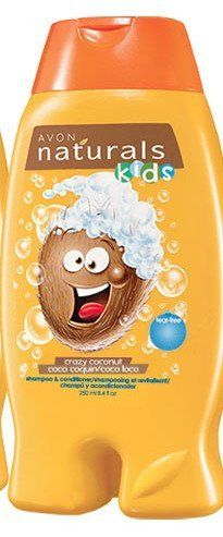 Avon Naturals Crazy Coconut Kids Shampoo & Conditioner 8.4 oz (250 ML) by Avon Naturals Kids Shampoo. $4.99. Make bath time playtime! Gentle hair care that kids can use every day! Tear-free formulas are dermatologist and ophthalmologist tested. Ages 3 and up. 8.4 fl. oz.