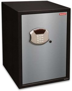 Honeywell 5108 2.80 Cubic Feet Steel Security Safe by Honeywell. $259.95. From the Manufacturer                This Honeywell 5108 steel security safe features a 2.80 cubic feet storage capacity, programmable digital entry, motorized door lock, brushed aluminum door cover, carpeted floor, removable shelf, LED readout, concealed hinges, recessed door and rear panel to prevent prying which gives you additional protection against theft. The Honeywell safe product line pr...