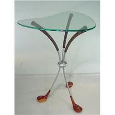 1950s Golf Furniture | 1950u0027s Kidney Shaped Golf Club Table