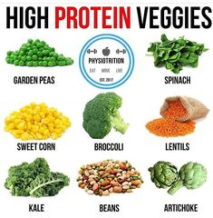 The Importance of Vitamin in a Vegetarian Diet. It's something we become aware of all the time: individuals, in general, do not eat healthy. The average diet plan includes too much hydrogenated fat and b Best Protein, High Protein Recipes, Vegan Protein, Foods Highest In Protein, Protein Muffins, Protein Cookies, High Protein Vegetables, Veggies, Plant Based Protein