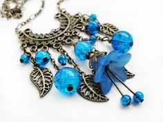 FOR SALE Fairy dream blue necklace by Benia1991 on DeviantArt