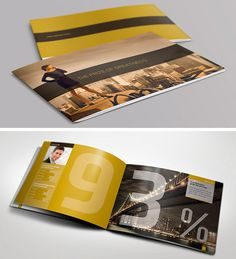 50 Beautiful Printed Brochure Designs For Your Inspiration. typography