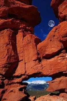Siamese Twins Rock Formation at Garden of the Gods, Colorado Springs, Colorado by John Hoffman by Eva0707