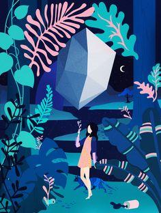 Fashion Illustration Design La Fuerza on Behance Behance Illustration Design Graphique, Illustration Inspiration, Illustration Art Nouveau, Illustration Vector, Art Graphique, Vector Art, Jungle Illustration, Friday Illustration, Fantasy Illustration