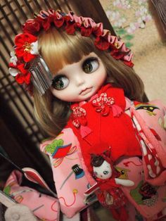 カスタムブライス♪文化人形ももちゃんbyプリティ♪_画像3
