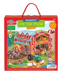 This On the Farm Magnetic Puzzle by T.S. Shure is perfect! #zulilyfinds