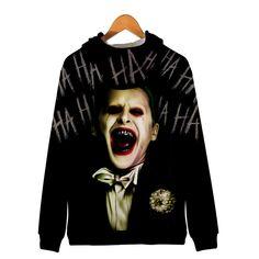 Unisex Hooded Suicide Squad Harley Quinn Joke Printed Realistic Pullover Athletic Hip-hop Sweatshirt with Big Pocket Joker Costume, Funny Design, Harley Quinn, Daily Wear, Squad, Hoods, Hip Hop, Athletic, Pullover