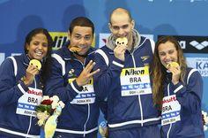 Etiene Medeiros, Felipe Silva, Nicholas Santos and Larissa Oliveira of Brazil