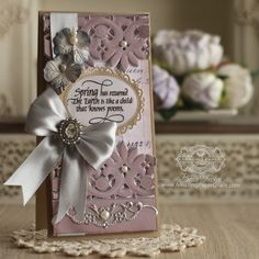 Card Making Ideas by Becca Feeken using Spellbinders Graceful Floral Lace and Quietfire Design - Spring has Returned - see full supply list at www.amazingpapergrace.com