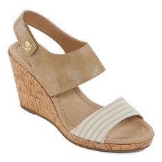 b6b70d49ef43 St. John s Bay Womens Sjb Quarry Wedge Sandals. JCPenney