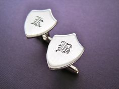 Personalized Cuff Links  Initial Olde English  by TesoroJewelry, $18.00