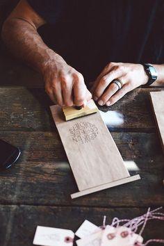 Hoboken Coffee Roasters - stamping the packaging. Bakery Packaging, Food Packaging Design, Coffee Packaging, Coffee Branding, Brand Packaging, Branding Design, Packaging Ideas, Coffee Shop Design, Cafe Design