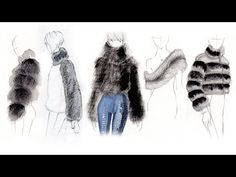 Fashion Illustration Tutorial: Fur & Shearling - YouTube