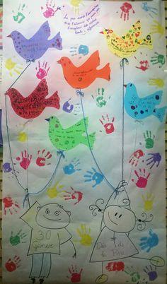 Dia de la Pau realitzat per l'alumnat de 1r i 2n CEIPJaume I (Catarroja)