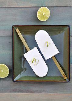Coconut Lime Popsicles