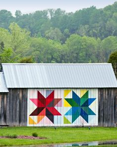 Take a scenic drive to discover these roadside gems—colorful quilt designs painted on barns—and to enjoy the countryside.