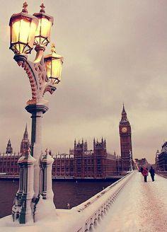 Big Ben in winter.
