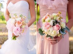Beautiful bridal bouquet pink and peach Whim Florals Camp Lucy Sacred Oaks Wedding | Shane + Kaci | Dripping Springs Wedding Photography | Al Gawlik
