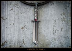 Steel Flame Virtus Dagger with Stone