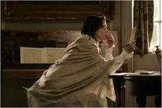 """Jane Austen -- """"Becoming Jane"""" Becoming Jane, Julie Walters, Dramatic Photos, Jane Austen Books, Literary Criticism, Maggie Smith, James Mcavoy, Anne Hathaway, Love Movie"""