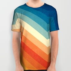 All Over Print Shirt featuring Barricade by Tracie Andrews Mens Printed Shirts, Polo T Shirts, Printed Tees, Cool Shirts, Awesome Shirts, Static Clothes, Blusas T Shirts, My T Shirt, Mens Tees