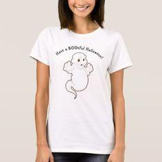 Women's Cute Halloween T-Shirt - holidays diy custom design cyo holiday family