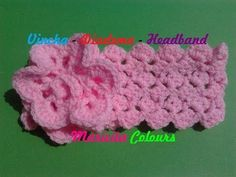 "Crochet Tutorial Vincha Diadema ""Ykita"" Headband - Haarband Subtitles English & Deutsch - YouTube"