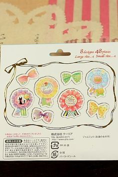 Lovely Tracing Paper Seal Flake Sticker Set by Qlia - Girly