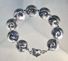Seascape Bracelet with fish shaped clasp by blingbychristine, $16.00