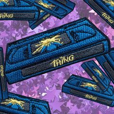 The Thing Inspired John Carpenter VHS Retro Throwback Iron On Patch