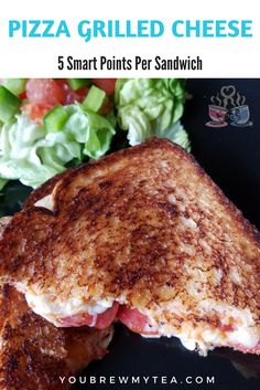 Pizza Grilled Cheese Sandwich is a family-friendly favorite comfort food that has only 5 SmartPoints per sandwich! Weight Watchers Recipes are so easy!