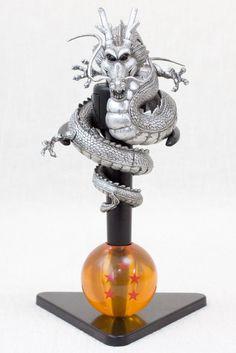 RARE! Dragon Ball Z Shenron Figure Ballpoint Pen & Stand Silver Ver. JAPAN ANIME