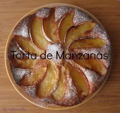 Cake casero de manzanas sin lactosa y sin gluten y, por supuesto, ¡buenísimo!