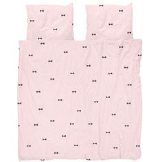 Snurk Bow Tie Pink digital dekbedovertrek 2-persoons
