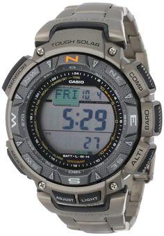 "Casio ""Pathfinder"" Triple-Sensor Multi-Function Titanium Watch - Compass, Altimeter, Thermometer, Barometer"