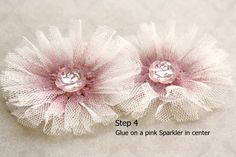 Cute flowers - could be done with any kind of lacy trim and a punch.