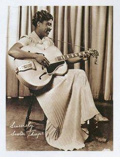'Sister Rosetta Tharpe: The Godmother of Rock & Roll, Rhythm And Blues, Jazz Blues, Blues Music, Rock N Roll, Blues Artists, Music Artists, Heavy Metal, Gospel Music, Women In History