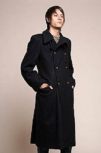 Army men's overcoat,long outerwear winter coat,men' coat,men's ...